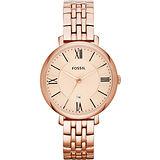 FOSSIL 羅馬風尚仕女腕錶- 玫塊金 ES3435