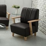 【日安家居】Phramei法爾米原木扶手椅/單人皮沙發(共3色)