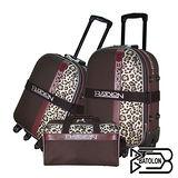 【BATOLON寶龍】25吋+29吋+旅行袋-貴氣豹紋旅行箱/行李箱/拉桿箱