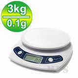 【3公斤】廚房烘培液晶 (3kg/0.1g) 料理秤/電子秤/麵包秤
