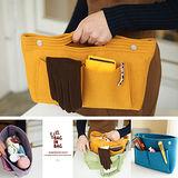 【韓國創意品牌 invite.L】袋中袋 毛氈質感可手提設計 包包收納幫手