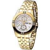 CITIZEN 氣質仕女3眼計時晶鑽腕錶-IP金FA1042-56A