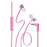 Genius HS-M250 抗噪耳道式手機專用耳機麥克風(粉)