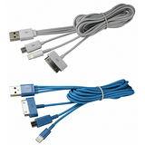 【KINYO】Micro USB/iPhone系列/三星平板/4合1充電傳輸線(長USB-42)