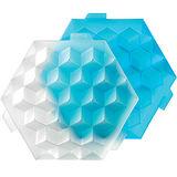 《LEKUE》方磚製冰盒(藍S)