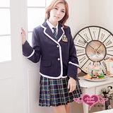 【天使霓裳】學院甜心 學生角色扮演服(白藍)