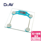 【Dr.AV】超大螢幕全家福 電子體重計(BS-2829)