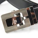 【Alpaca雅派】銀色C型簍空平紋帶身紳士自動腰帶