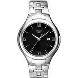 TISSOT T-Trend T12 時尚雅典時刻腕錶-黑/銀 T0822101105800