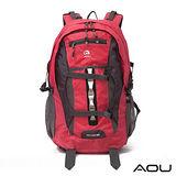 AOU微笑旅行 極限視覺系 台灣釦具 護肩護脊雙肩背包(甜心桃)68-066