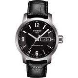 TISSOT PRC200 Powermatic 80 時尚機械腕錶-黑 T0554301605700