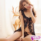 【Sexy Cynthia】誘惑蕾絲!二件式開襟睡衣