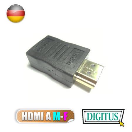 曜兆DIGITUS~AB-561~HDMI專用鍍金接頭(公對母)-黑色