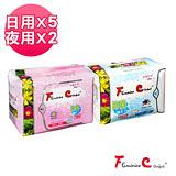 《FC美麗先淨》 漢方衛生棉-組合包(日用x5、夜用x2)