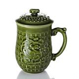 乾唐軒活瓷‧喜鳳來儀杯 (綠釉 )