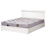 HAPPYHOME 艾莉絲6尺床片型加大雙人床178-1(只含床頭-床底-不含床墊)