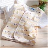 (購物車)魔法Baby~百貨專櫃正品短袖前全開扣居家上衣~黃~k03287