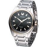星辰 CITIZEN Eco-Drive 超級鈦商務紳士時尚腕錶 AW1245-53E