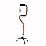【舞動創意】仲群維醫療用手杖(未滅菌)-鋁合金四腳拐助行器雙手握把手杖- GT40061