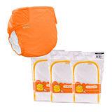 COTEX可透舒 實惠型布尿布--夜間體驗包(1件外兜+3片夜用型吸尿墊)