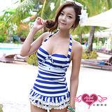 【天使霓裳】海洋公主 一件式連身泳衣(藍)