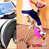 【SAN SPORTS 山司伯特】雙軸飛輪式磁控健身車C082-917 室內折疊腳踏車.摺疊美腿機.運動健身器材