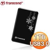 Transcend 創見 A3KRU 1TB USB3.0 2.5吋精品防震硬碟《雪花限定版》