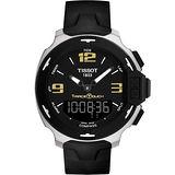 TISSOT T-Race Touch 霸氣時尚觸控休閒腕錶(黑X金時標/42mm) T0814201705700