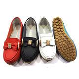《JOYCE》簡約休閒大蝴蝶造型真皮鞋