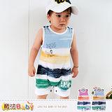 魔法Baby~連身衣~百貨專櫃正品純棉無袖包屁衣~嬰兒服~k35308