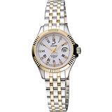 ENICAR 英納格 自動系列璀燦晶鑽機械女錶-白x雙色版 778-50-329G