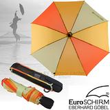 【德國 EuroSCHIRM】LIGHT TREK AUTOMATIC 高彈性抗鏽自動傘.折疊傘.晴雨傘/ 3032-CW3 橘/黃
