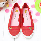 【童鞋城堡】拉拉熊懶懶熊經典刺繡休閒帆布鞋KM8271