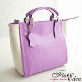 DF FlorEden - 情定巴黎柔美時尚系真皮手提斜背2用包-共2色