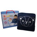 英國熊 150X180二用抱枕毯-盒裝