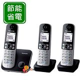 Panasonic DECT 國際牌數位無線電話機 KX-TG6812+TGA681*1 / KX TG6813 (鈦金黑)