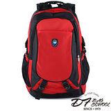 DF BAGSCHOOL - 挑戰自我極限運動款大容量後背包-紅