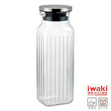 【iwaki】耐熱玻璃水壺 1L(方型款)