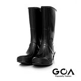 GOA 男款基本款亮面長筒雨靴-黑色