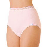 【Gunze日本郡是】原裝進口100%純綿 女性高腰內褲(白.粉/LL)