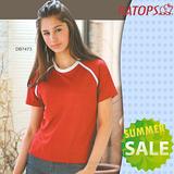 【RATOPS-涼夏熱銷】女款 Coolmax 圓領短袖排汗休閒衫.T恤.排汗衣 / DB7473 棗紅
