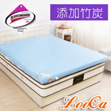 LooCa平面款釋壓8cm吸濕排汗記憶床墊-單人(共3色)