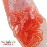 【BabyTiger虎兒寶】Rainbow Loom 彩虹編織器 彩虹圈圈 600條 補充包 -果凍橘色