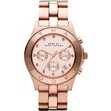 Marc Jacobs 時尚潮流晶鑽計時腕錶-玫塊金 MBM3102