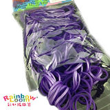 【BabyTiger虎兒寶】Rainbow Loom 彩虹編織器 彩虹圈圈 300條 補充包 -金屬紫色
