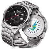 TISSOT Luxury 典藏經典亞運會限量機械腕錶-黑x銀 T0864071120100