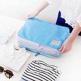 【iSFun】旅行專用*便捷收納衣物包/藍