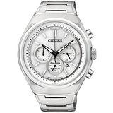CITIZEN Eco-Drive光動能鈦金屬輕質計時腕錶(銀/42mm) CA4021-51A