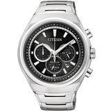 CITIZEN Eco-Drive光動能鈦金屬輕質計時腕錶(黑/42mm) CA4021-51E
