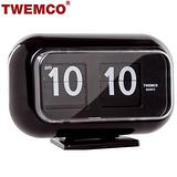 【TWEMCO】復古收藏翻頁鐘 桌立壁掛兩用 (QT-35 黑色)